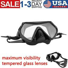 Scuba Diving Snorkeling Mask Wide View Silicone Oversize Mask Safe Comfortable