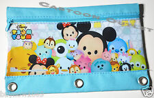 DISNEY TSUM TSUM PENCIL PEN BAG CASE FOR 3 RING BINDER POUCH CANVAS FOR backpack