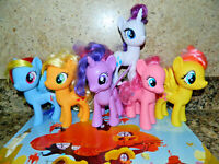 """My Little Pony Mane 6 Lot Toy Figures~Most G4.5 Reboots~6"""" MLP Brushable G4"""