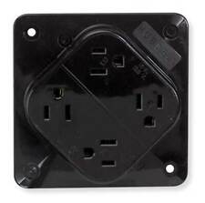 HUBBELL WIRING DEVICE-KELLEMS HBL415 15A Quad Receptacle 125VAC 5-15R BN