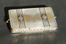 "BOITE ARGENT MASSIF MINERVE A SYSTEME "" BROSSE DE VOYAGE"" SILVER BOX FRENCH"