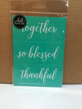 New Chalk Couture reusable Transfer TOGETHER SO BLESSED THANKFUL 5 X 7
