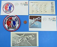 NASA LOT of 3 vtg '73 - SKYLAB II - Space Event Postal COVERS & cloth back PATCH