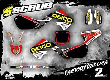 SCRUB Honda graphics decals CR 125 - 250 '97 '98 '99 Stickers MX 1997-1999