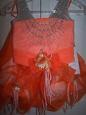 NWT Girls PERFECT ANGEL 1193 Pageant Dance Dress Gown Cream Orange 5T
