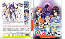 DVD Date A Live Season 1+2 Vol 1-22 END + OVA + Movie ENGLISH VERSION All Region