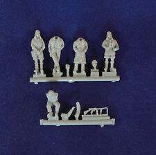 Milicast 1/76 británico LRDG Figura Set 2: cinco figuras en poses informales FIG109