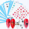 Lot 30 Sheets DIY Nail Art Transfer Stickers 3D Snowflakes Christmas Decal Decor