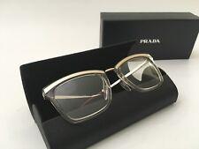 Prada Eyeglasses VPR 15U KNG-1O1 50-19 140 Gold, Clear & Burgundy Frame