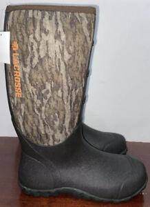 """Lacrosse Men's 16""""Alpha Lite MOSSY Oak Bottomland NEOPRENE Boots Sz.7 NEW 200071"""