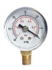 Dépression -30 * hg & -1 / 0 bar 40mm cadran 1/8 bspt connexion bas.