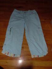 oilily light blue cotton blend capris crop pants size 42  (12)