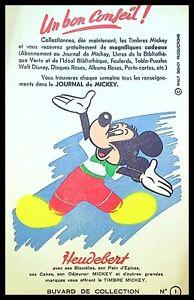 Buvard Publicitaire, Biscottes HEUDEBERT - Journal de mickey
