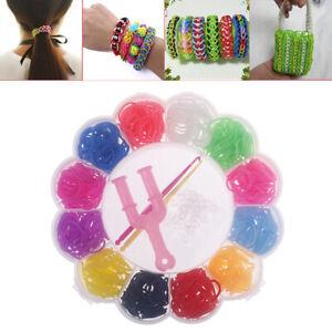 600pcs Colorful Rubber Loom Bands Weave Elastic Make Bracelet DIY Box Girls G.ZY