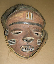 Fine African Art DRC Pende Tribal Very Old Mask Africa Gongo Vegetal Masque