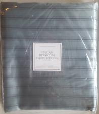 "NIP Restoration Hardware ""Byzantine Stripe"" Eucalyptus King Duvet Cover"