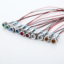 LED Metal Indicator Light 6mm Signal Lamp 3V 5V 6V 9V 12V 24V 110V 220V 1pcs