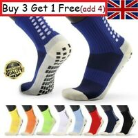 U7H9 Men's Anti Slip Football Socks Athletic Long Socks Absorbent Sports Grip UK