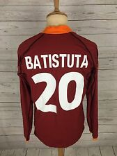 Mens Roma Home Shirt - Small - 2001 - #20 BATISTUTA - Kappa - Great Condition
