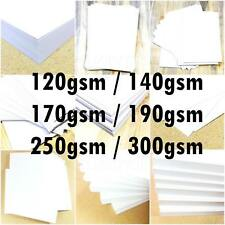 A6 A5 A4 A3 A2 WHITE CARD STOCK SCHOOL PAPER SHEETS ARTS CRAFTS 120gsm - 300 gsm