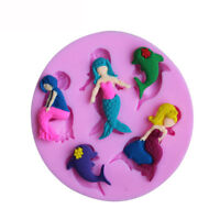 mermaid silicone fondant cake mould decorating mold chocolate baking t_PFJ_ws