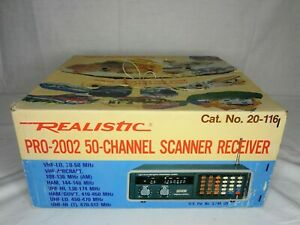 Realistic Pro-2002 50-Channel Scanner Receiver No. 20-116--TESTED