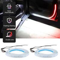 2x Car Door Open Warning Lamp LED Lights Strip Flowing Flashing Anti-collision