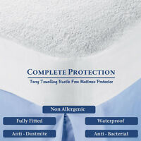 King Size Waterproof Washable Mattress Protector Terry Wet Sheet Matress Cover