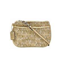 COACH Gold Lurex Wristlet Clutch Gold Metallic Leather
