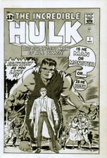 THE INCREDIBLE HULK POSTER PAGE . 1962 ISSUE 1 ARTWORK . H7