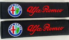 PAIR OF COMFORTABLE EMBROIDERED ALFA ROMEO SEAT BELT COVERS
