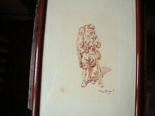 SOLDAT FRANCAIS DE LA W W 1 EAU FORTE SANGUINE PAR  Georges SCOTT daté 1917