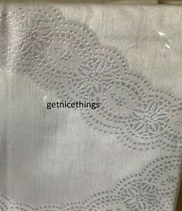 NWT $375 Yves Delorme Lace Border Gray F/ Q Flat Sheet 100% Cotton Sateen 500TC