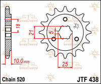 Jtf438.15 front replacement sprocket 15 teeth 520 pitch natural steel - SUZUK...