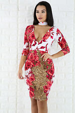 Rose Choker Bodycon Dress Cocktail Party Hot Popular Fashion giti online