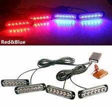 4in1 24LED Car Police Strobe Flash Light Dash Emergency Warning Lamp Red/Blue