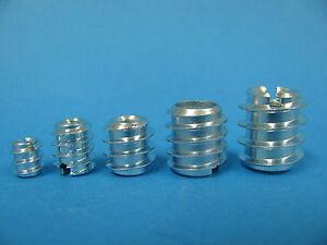 Rampa Muffen in M4 bis M10 verzinkt Schlitz Rampamuffen Einschraubmutter f. Holz