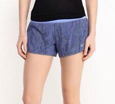 "Nike 3"" Zen Rival Women's Dri-Fit Lined Running Shorts Pocket Chalk Blue Large"