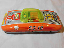 VINTAGE SPACE SHIP TIN FRICTION CAR S&E JAPAN
