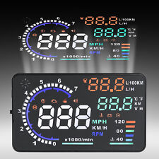 "5.5"" Car HUD A8 Head Up Display OBD II OBD2 Projector Speed Warning System VP"