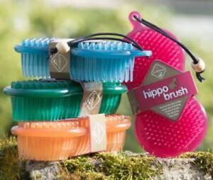 LeMieux HIPPO Grooming BRUSH Horse Pony Dog Scrubbing Hair Dirt Pink/Blue/Green