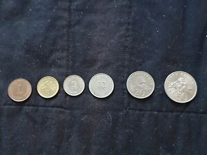 SINGAPORE COINS 1 5 10 20 50 Cents 6 in Total