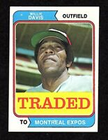 1974 Topps Traded #165T Willie Davis Montreal Expos Baseball Card EX/MT+