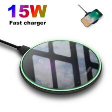15W / 10W Fast Qi Wireless Charging Charger Pad Mat For iPhone 11 11Pro 8 XS XR