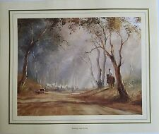 New Kevin Best Artist Painting Print - Mustering - near Molong 38 x 45.5cm