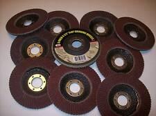"""10 ASSORTED GRIT 4-1/2"""" ANGLE GRINDER SANDING FLAP DISC"""