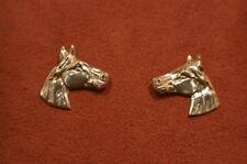 Equestrian 925 Horse Head Silver Earrings Jewellery