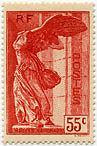 "FRANCE N°355 ""POUR LES MUSEES NATIONAUX, SAMOTHRACE, 55 C ROUGE""NEUF xxTTB"