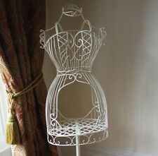 Large Shabby Chic Antique Cream French Vintage style Mannequin Rustic & Stand