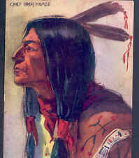 """Chief High Horse"" Native American Indian,Old West,Peterson,1908 Old Postcard"